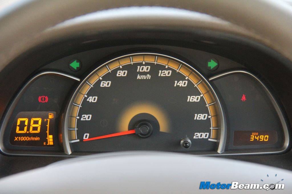 Chevrolet Sail Notchback Instrument Cluster