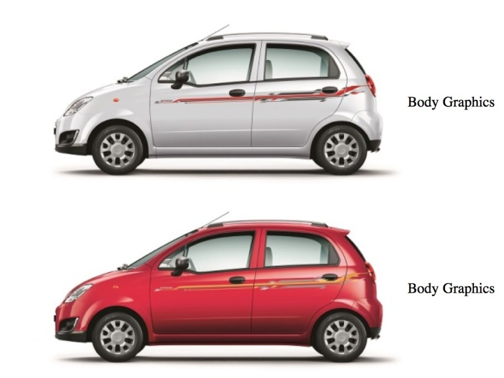 Chevrolet Spark Limited Edition Launched Priced At Rs  Lakhs - Car body graphics for alto