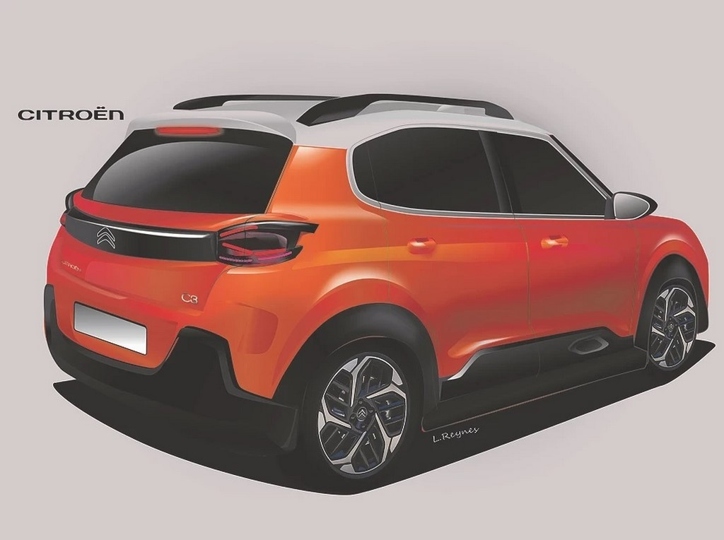 Citroen C3 Design Rendering Rear