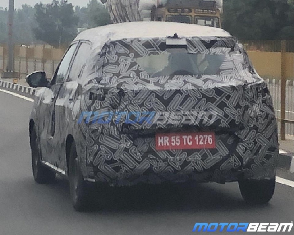 Citroen Compact SUV Spotted Rear