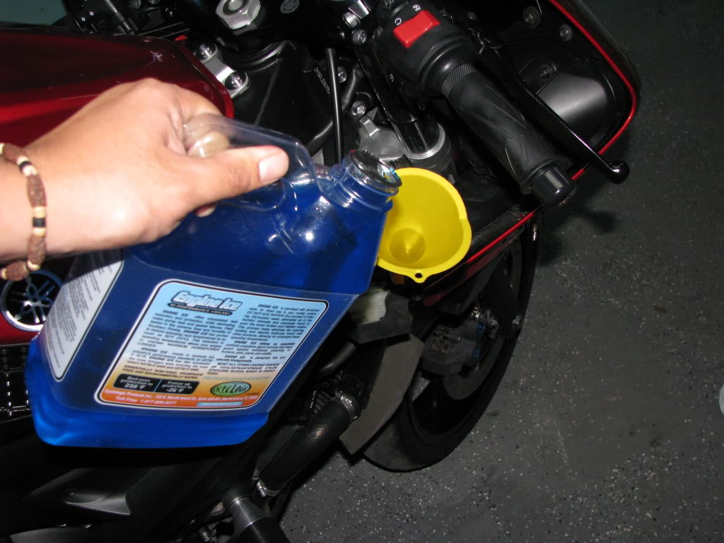 DIY Basic Motorcycle Change Coolant