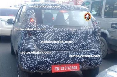 Production Ready Datsun Redi-GO Spied With Camouflage For First Time