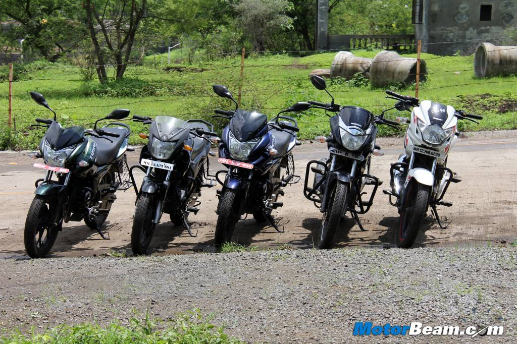 Discover 150 vs Unicorn vs SZ vs GS150R Shootout