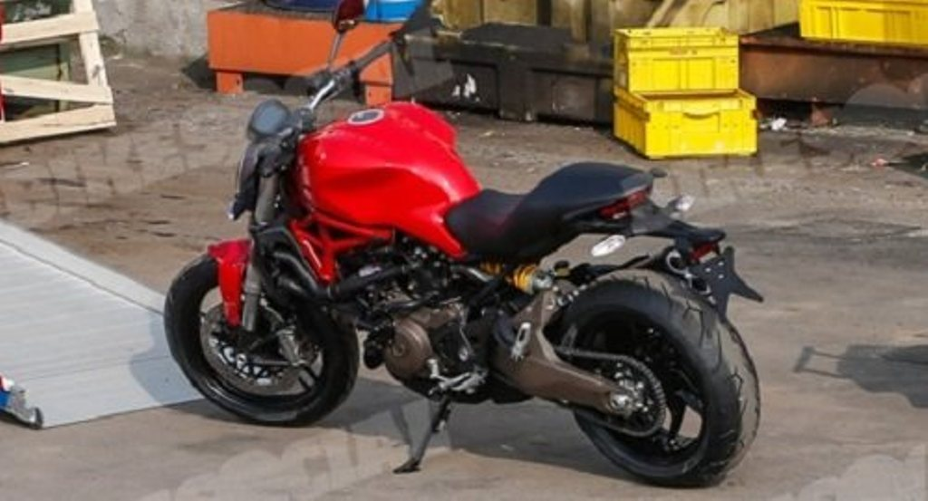 Ducati Monster 821 Spy Shot