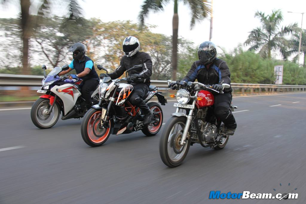 Duke 390 vs Continental GT vs CBR250R