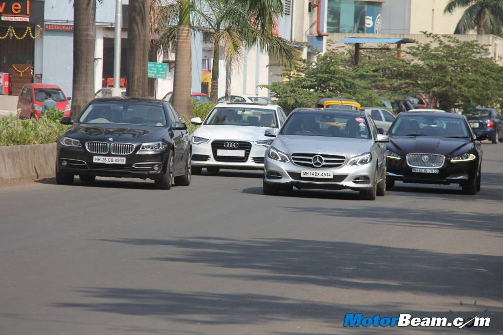E-Class vs 5-Series vs A6 vs XF Performance