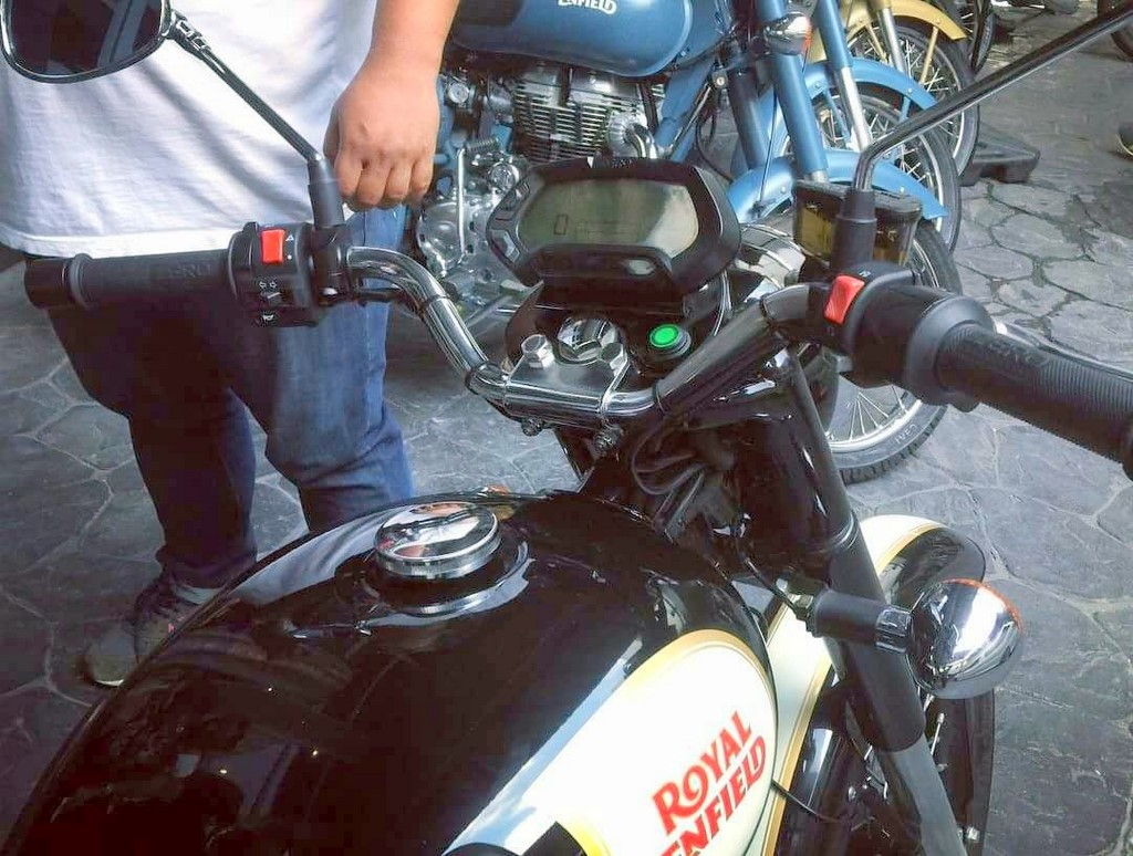 Electric Royal Enfield Bike Spotted At Thailand Dealership