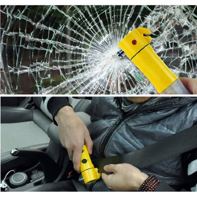 Essential Car Things Flashlight Hammer