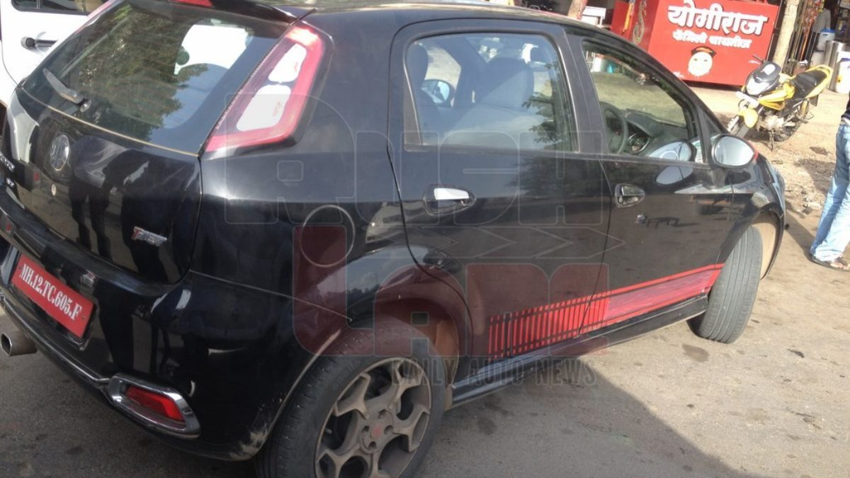 Abarth Punto Evo Spotted With T Jet Badge Testing In Pune