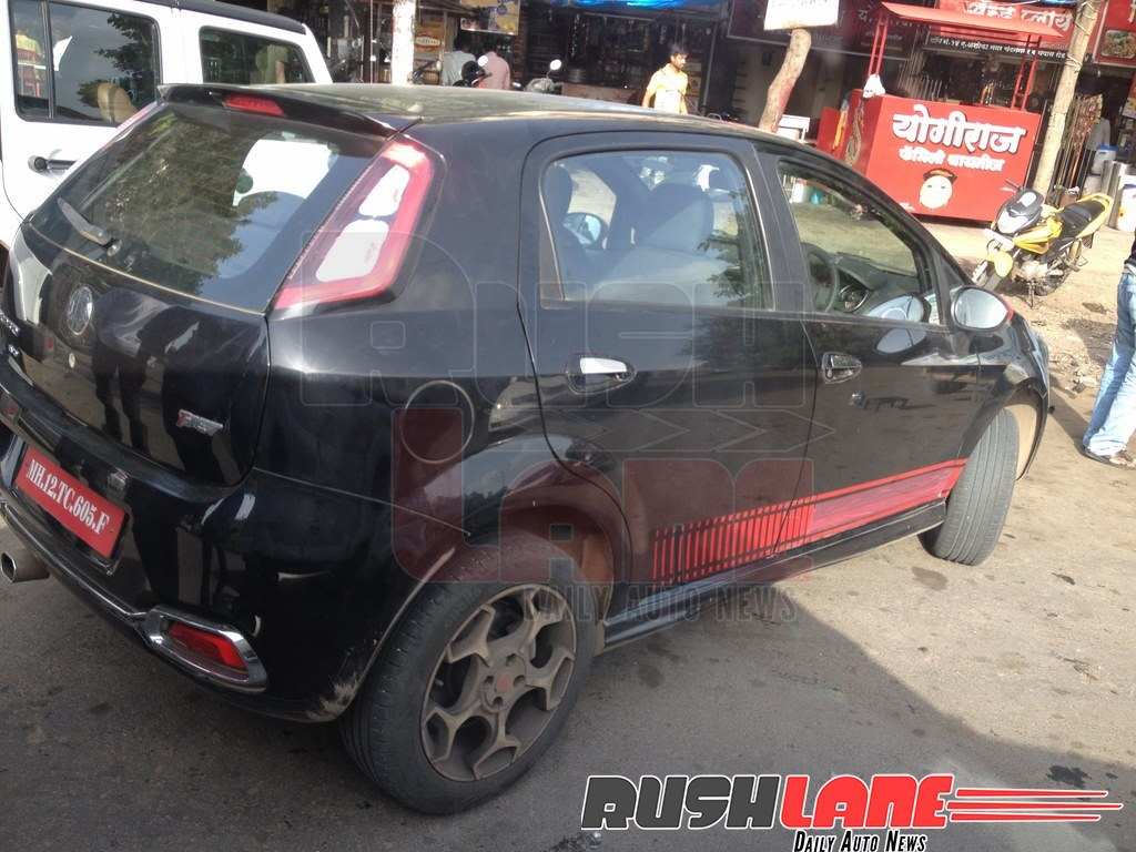 abarth punto evo spotted with t-jet badge testing in pune