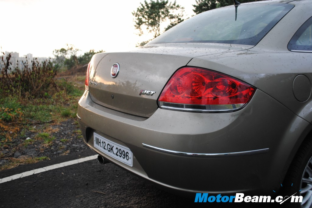 Fiat Linea Tjet Badge on the boot