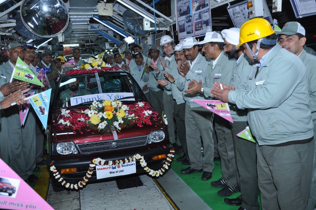 Final Maruti 800 Production Roll Out