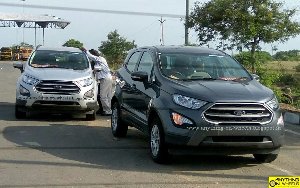 Ford EcoSport Facelift Captured