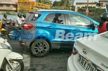 2017 Ford EcoSport Spied Again On Test Rounds