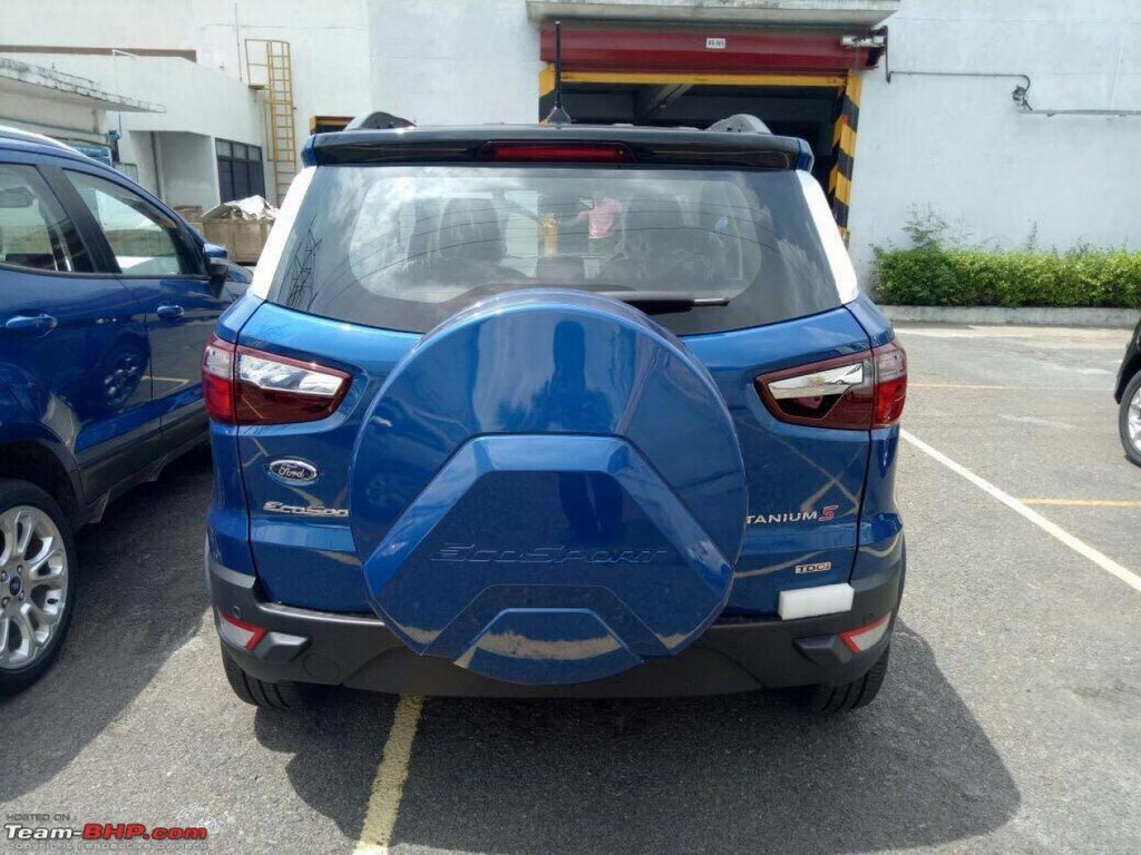 Ford EcoSport Facelift Titanium S Rear Spotted