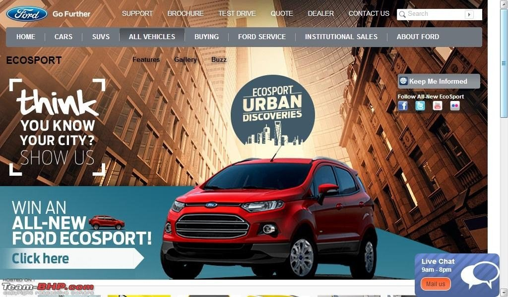 Ford EcoSport Website