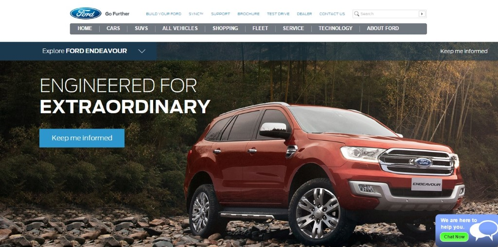 Ford Endeavour Website India