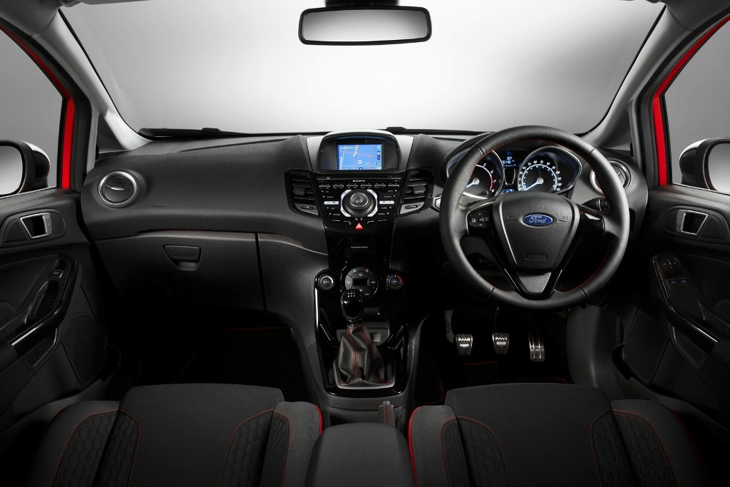 Ford Fiesta Red And Black Edition Dashboard