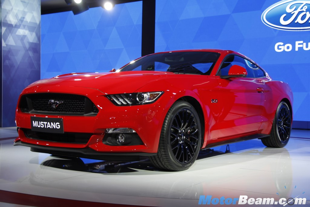Ford Mustang Flexes Pony Car Muscle At 2016 Auto Expo [Live ...