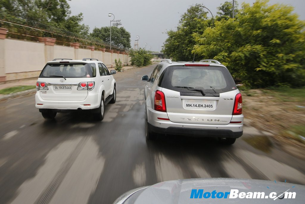 Fortuner Rexton Rear Tracking