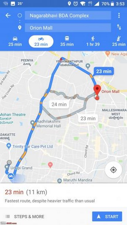 Google Maps Two Wheeler Mode Launched In India Motorbeam