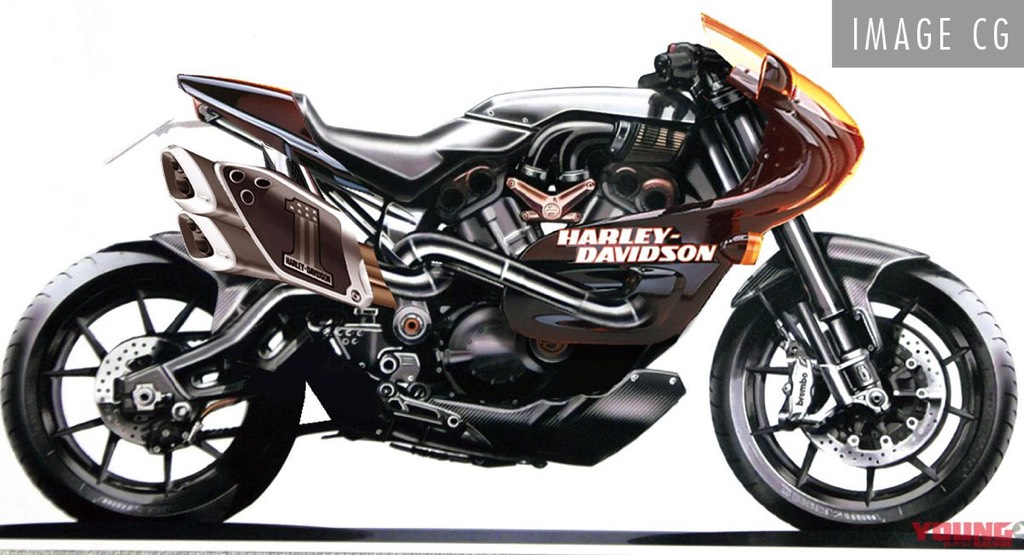 Harley-Davidson Faired Motorcycle Render