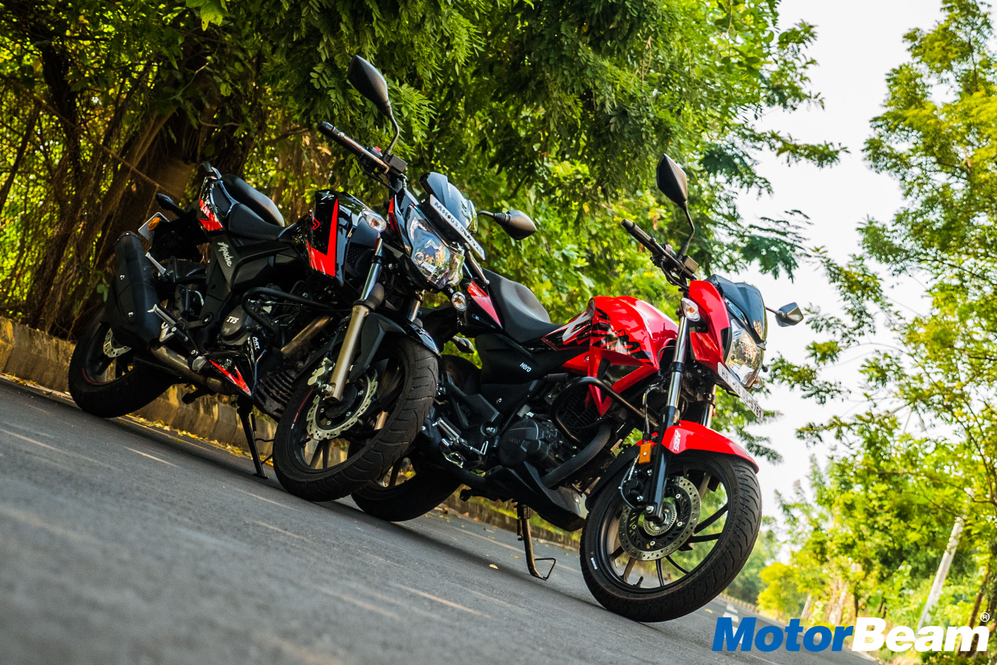 Hero Xtreme 200R vs TVS Apache 200 Comparison Test