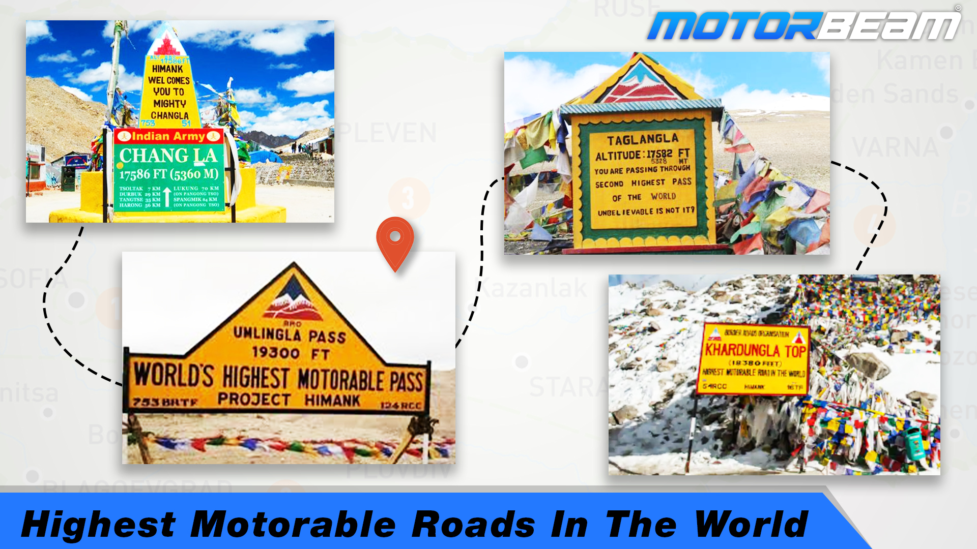 Highest Motorable Roads In The World