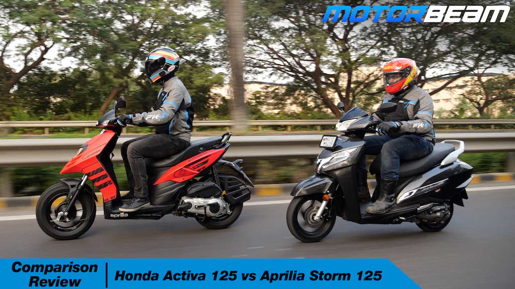 Honda Activa 125 vs Aprilia Storm 125 Video