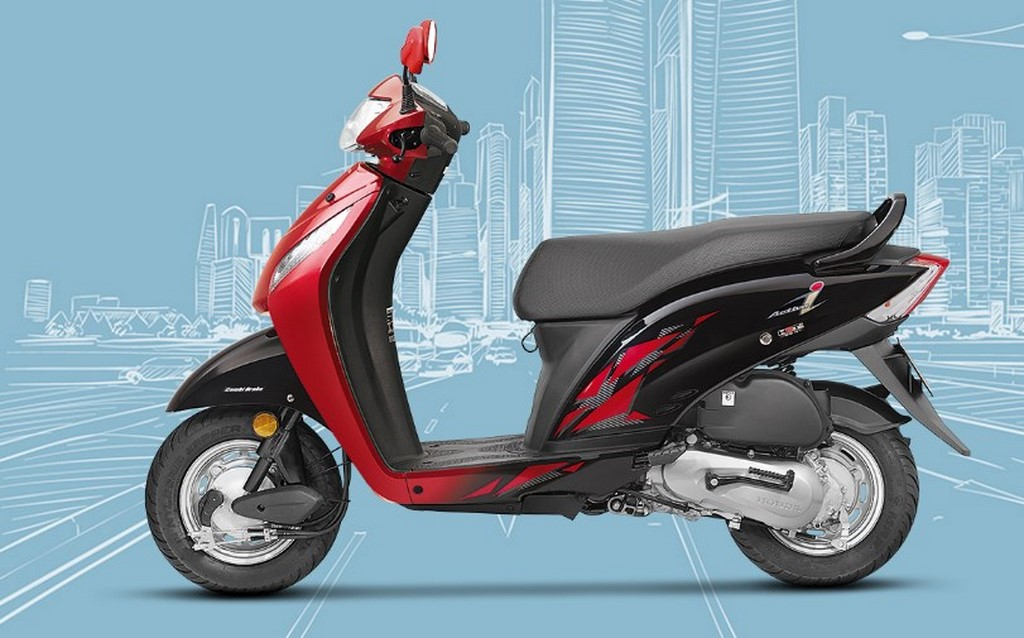 Honda Activa i BSIV Launched Red