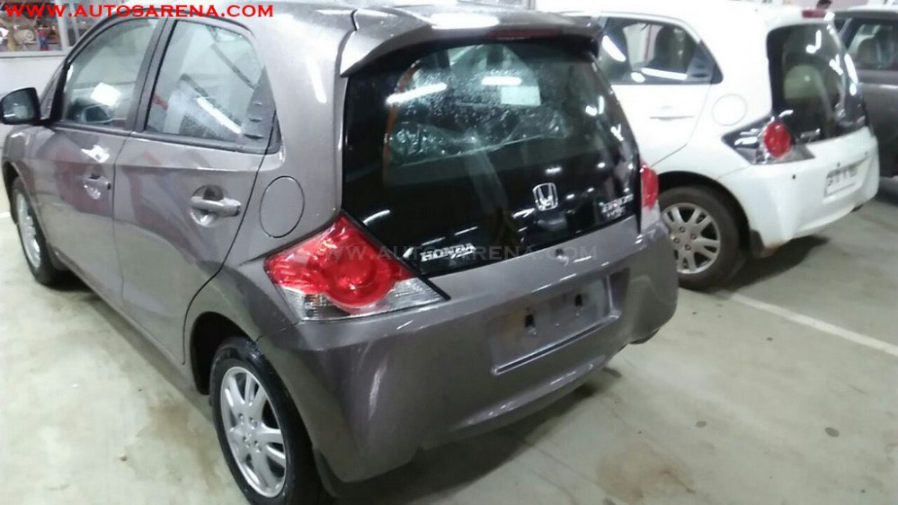 Honda Brio Facelift Rear Spied