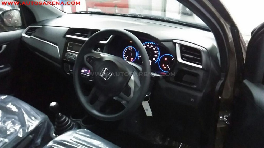 Honda Brio Facelift Spied Dashboard Spied