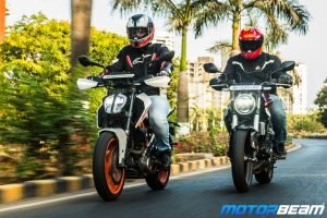 Honda CB300R vs KTM Duke 390 Comparison Review