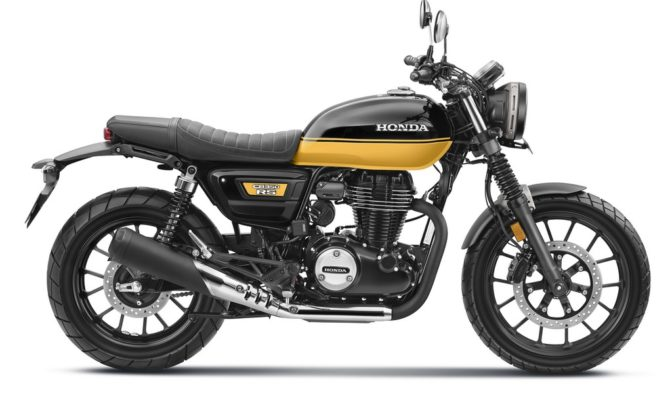 Honda CB350RS Black With Pearl Sports Yellow