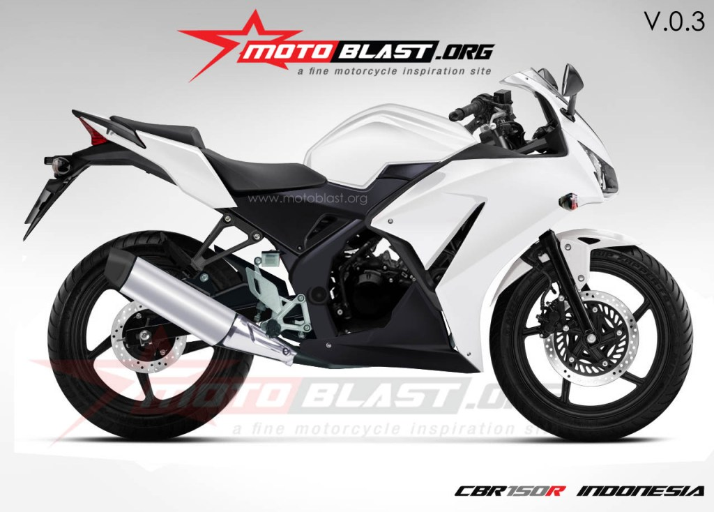 Honda CBR150R Side Rendering