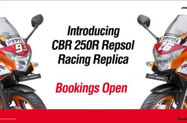 Honda CBR250R Repsol Racing Replica Limited Edition Bookings Open