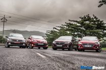 Honda City vs Hyundai Verna vs Toyota Yaris vs VW Vento Comparo