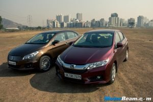 Honda City vs Maruti Ciaz Video