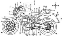 Honda Electric Motorcycle Patent 1