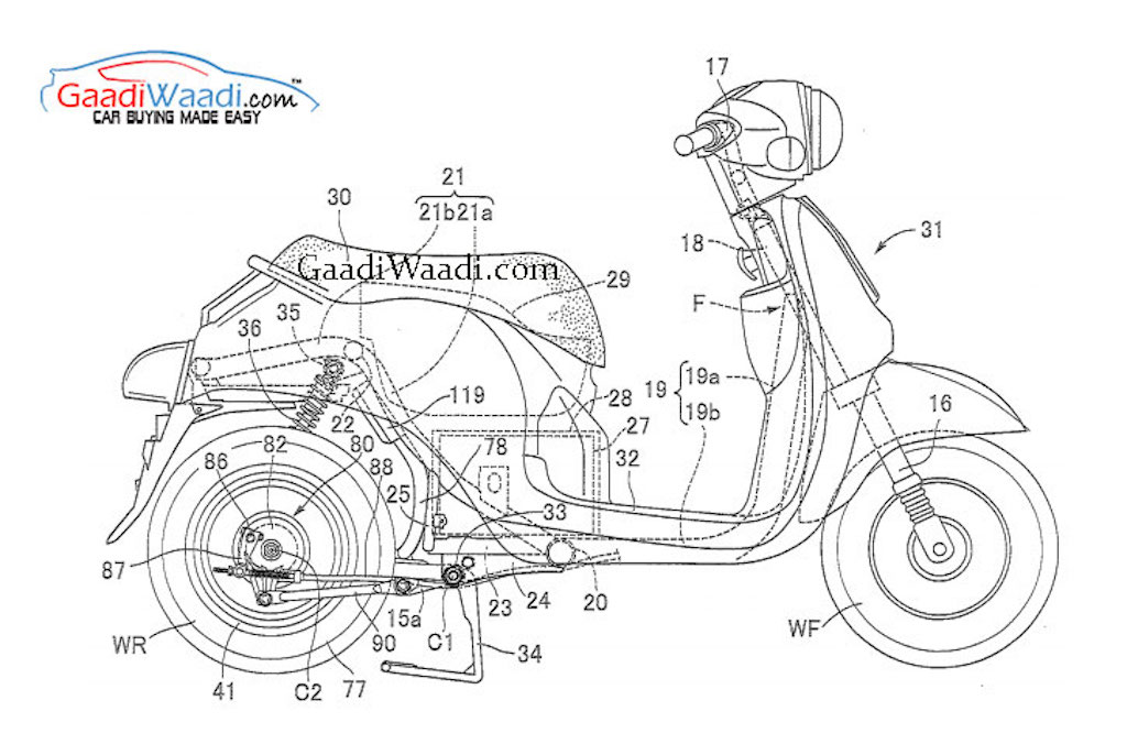 Honda Electric Scooter Patent Leak