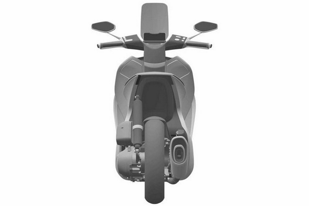 Honda Retro Scooter Concept Back