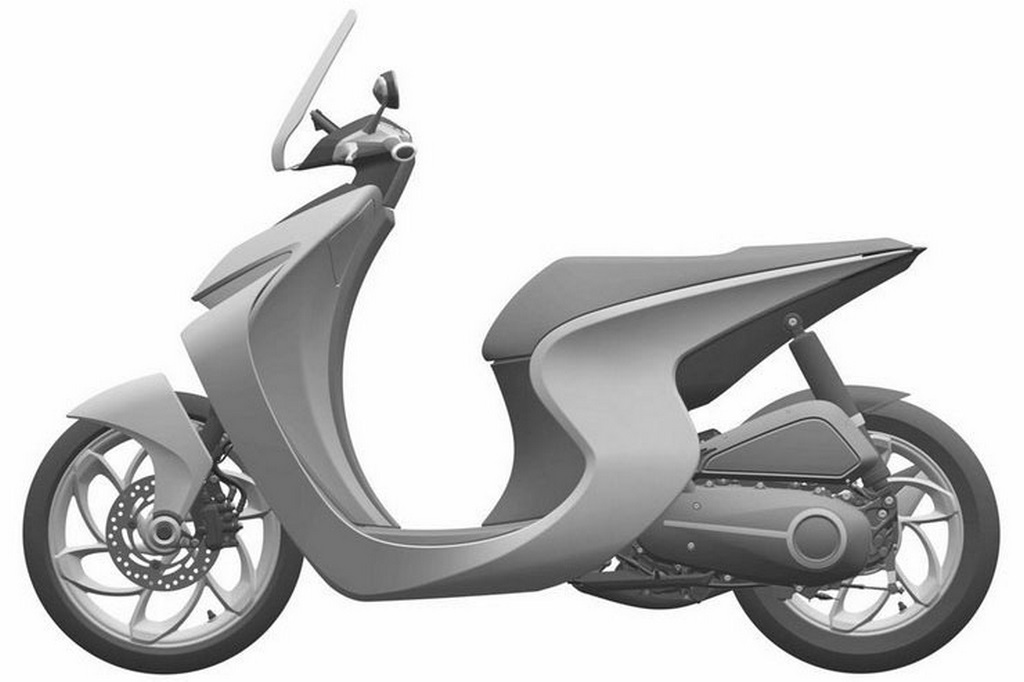 Honda Retro Scooter Concept Side