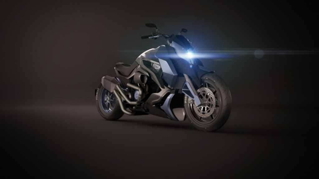 Hyosung ST7 Power Cruiser Concept Front