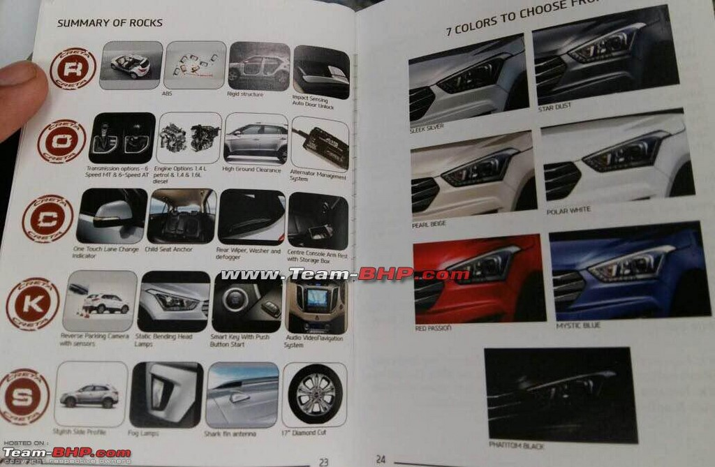 Hyundai Creta Brochure Colours