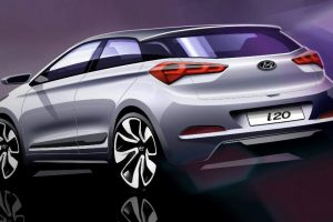 Hyundai Elite i20 Rendering Official Rear