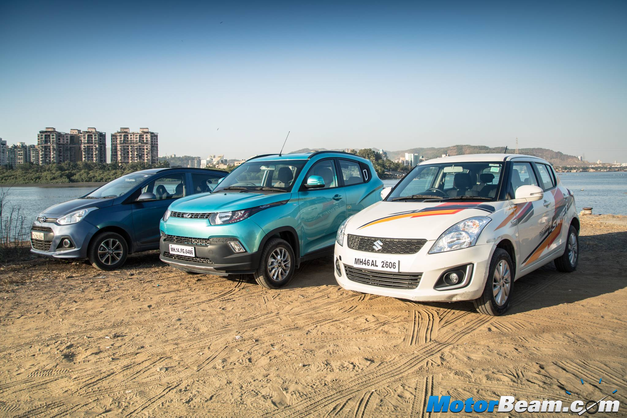 Hyundai Grand i10 vs Mahindra KUV100 vs Maruti Swift Video