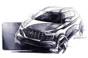 Hyundai Venue Sketch