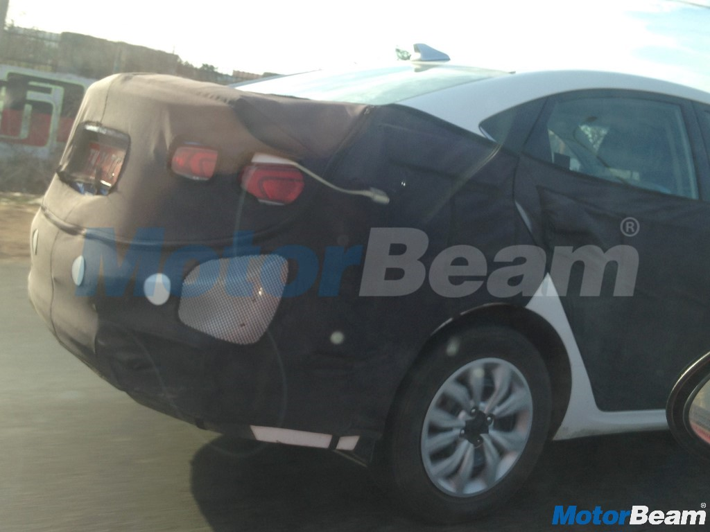 Hyundai Verna Rear Three Quarter Angle