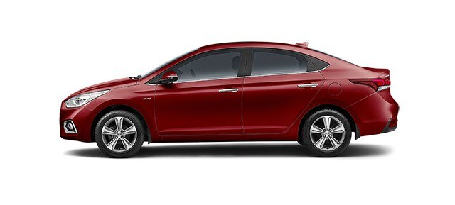 Hyundai Verna Red