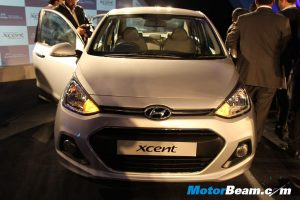 Hyundai Xcent Launch Front